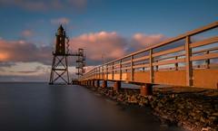 Golden Hour at Lighthouse Monument Obereversand 2