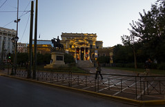 Low sun in Athens