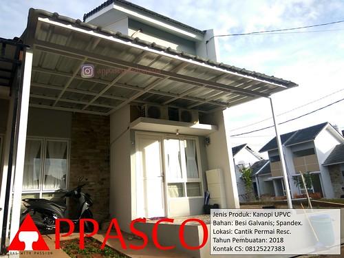 kanopi baja galvanis spandek besi di cantik permai residence a photo