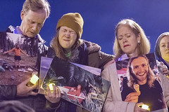 Family members of the Oakland Ghost Ship warehouse fire victim gathered to mourn over their loss during a candlelight vigil at Lake Merritt on December 6, 2016