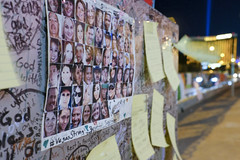 A memorial for the victims was set up after the mass shooting in Las Vegas, Nevada, that took 58 lives, October 28, 2017.