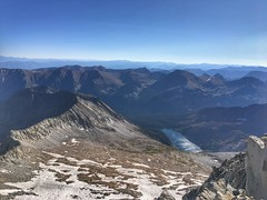 Looking towards the east from the summit of Snowmass Mountain