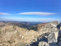 Looking towards the northwest from the summit of Snowmass Mountain.  You can see Capitol Peak to the right.