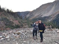 Meng Zhang and Quichen Li enjoying the approach hike