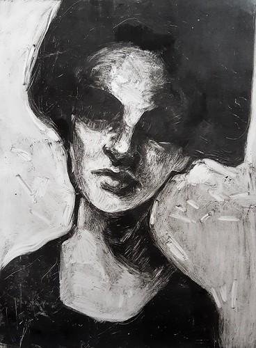 Monotype portrait 2, 2019