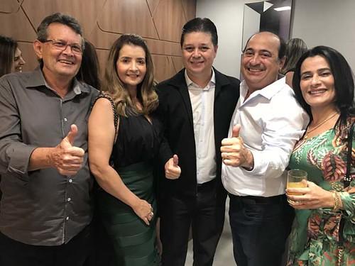 Carlos e Rosane Franco, Luís Henrique Alves, Jomar Andrade e Valéria