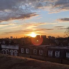 Sunrise over apocalyptic London