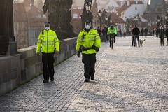 City police in mask