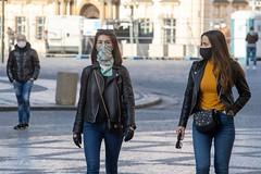 Girls in mask