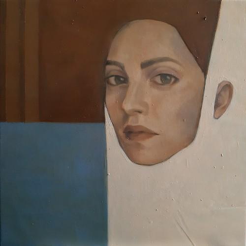 Contrazione dell'ambivalenza, olio su tela, 35x35 cm, 2020