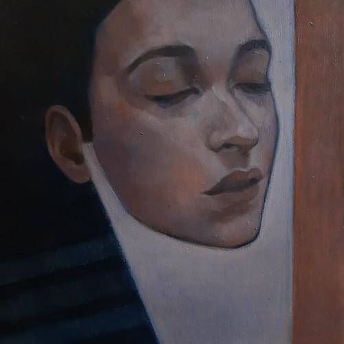 Sospesa, oil on canvas, 30x30 cm, 2020