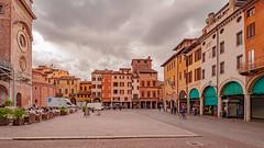 Piazza delle Erbe, Mantova, Italia