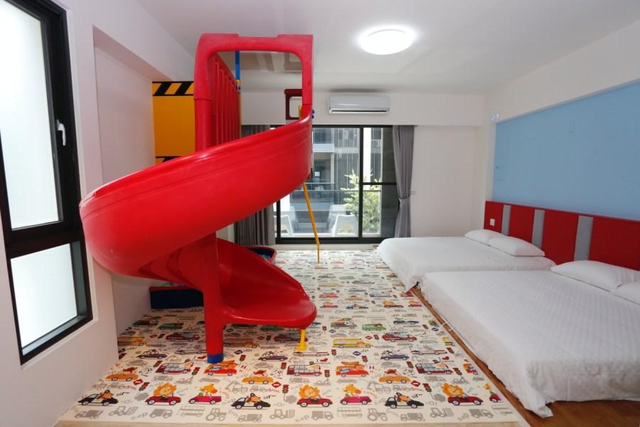 [宜蘭住宿]禾沐親子民宿 玉兔鉛筆學校附近新開親子民宿~房間裡有巨大室外溜滑梯可以整晚玩不停 @VIVIYU小世界