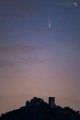 La cometa su Rossena. Luglio 2020