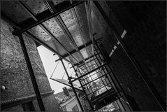under scaffolding