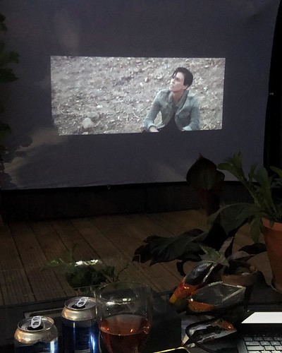 Today is all about...movie night in the garden