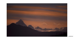 Chain of the Alps and Monviso.