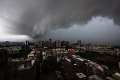 shelf cloud on a squall line over Tainan