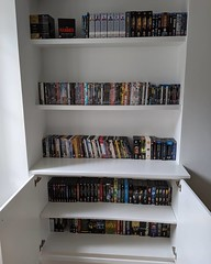 Nothing says home like a wall of DVDs (except, perhaps, books - which is what I'm doing next)