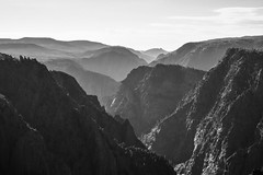 Black Canyon in Black and White