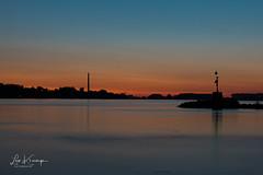 Sunrise Waal river