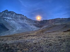 Harvest moon over Yankee Jim Basin