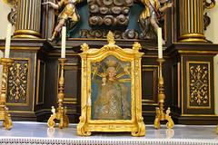 Mödring. Pfarrkirche. Rechter Seitenaltar. Marienaltar - Reliquienschrein