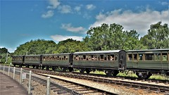 Preserved Southern Railway 4 Wheel passenger Coaches.