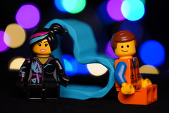 Lucy and Emmet Colorful Lights Bokeh