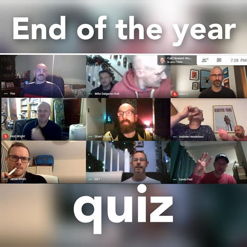Today is all about...the end of year quiz