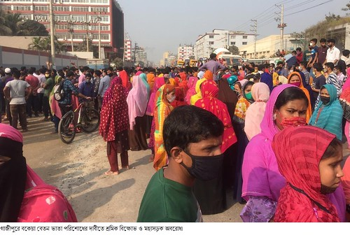 Gazipur-(3)- 07 January 2021-Worker Unrest & Barricade At Sign Board-3