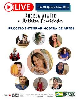 CARTAZ LIVE MOSTRA DE ARTES