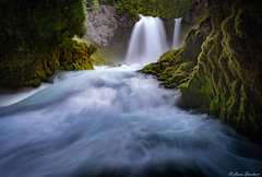 Ferocious flow. Sahalie Falls