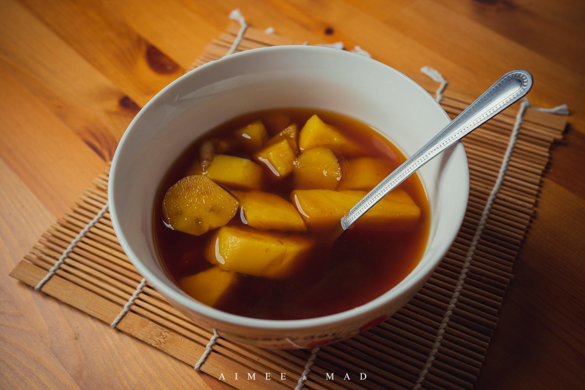 五紅湯,黑糖地瓜湯,桃膠
