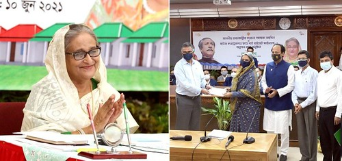 Gazipur-(2)- 10 June 2021-NU (Transfer Of Checks To PM's Relief Fund