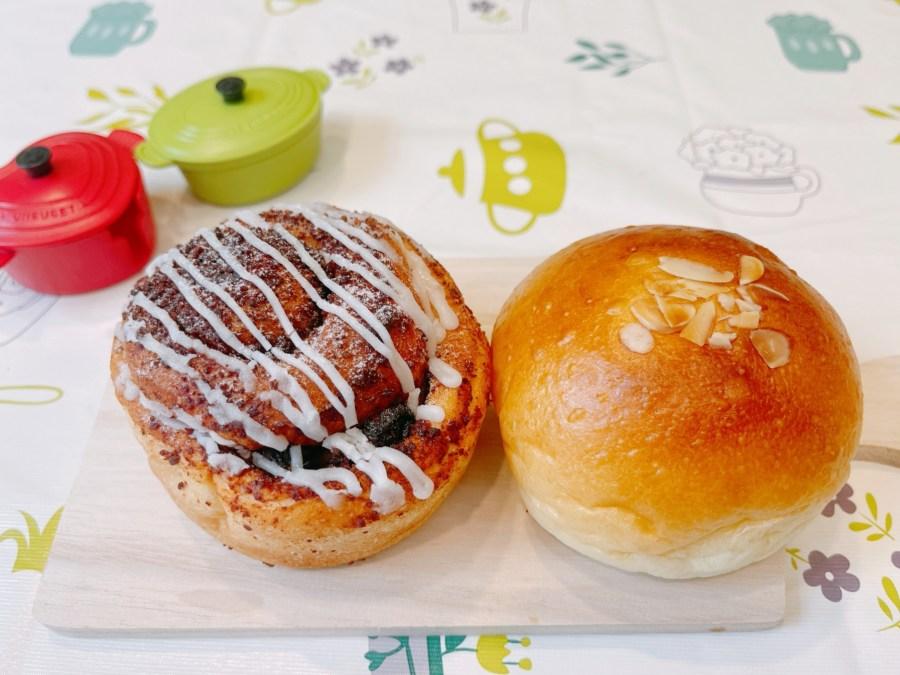[林口美食]CHIU An久安手作麵包 林口三井OUTLET料好實在的外帶麵包,肉桂捲、鮮蔥麵包與小熊麵包 @VIVIYU小世界