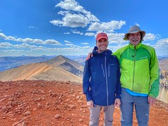 Mike Todt and I enjoy a great day on top of Redcloud Peak