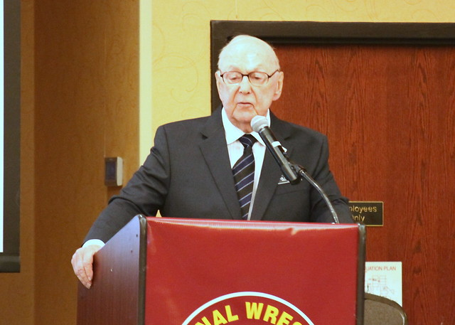 2019 National Wrestling Hall of Fame, Minnesota Chapter Lifetime Service inductee Paul Bengston. 190427AJF0052