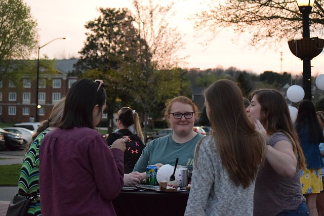 Students socializing at the Junior Twilight (2)