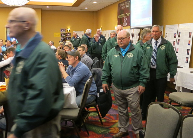 2019 National Wrestling Hall of Fame, Minnesota Chapter Parade of Green Jackets. 190427AJF0830