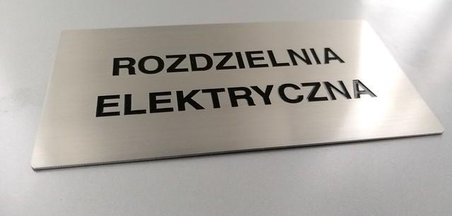 tabliczka ze stali nierdzewnej, grawerowana z emalią, oznaczenie biura (3)