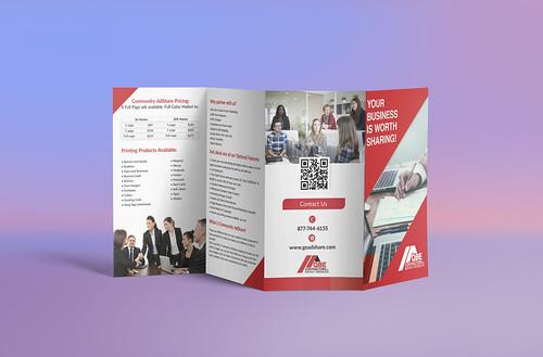 Four fold brochure design
