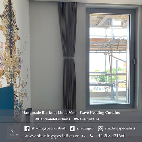 Handmade Blackout Lined 80mm Wave Heading Curtains