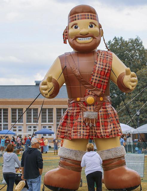 Radford University mascot the Highlander (1)