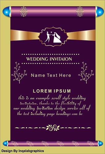 Wedding Invitation Templates   Free Vector Cdr File wedding invitation sample Download