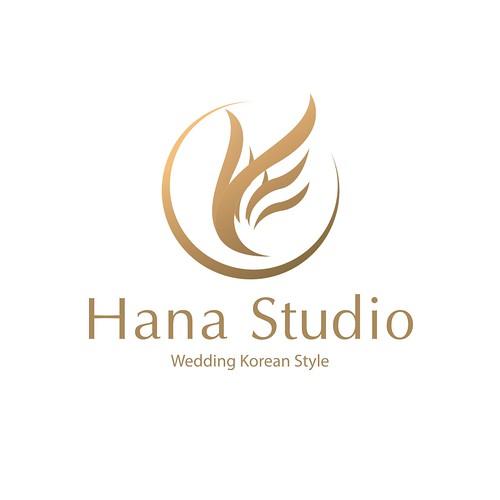 Wedding floral love line logo design template