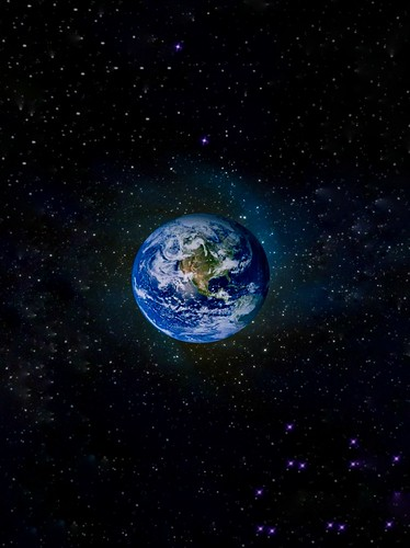 COVER for smartphones - outer space  ● the blue planet - icon: for 100.0x space zoom