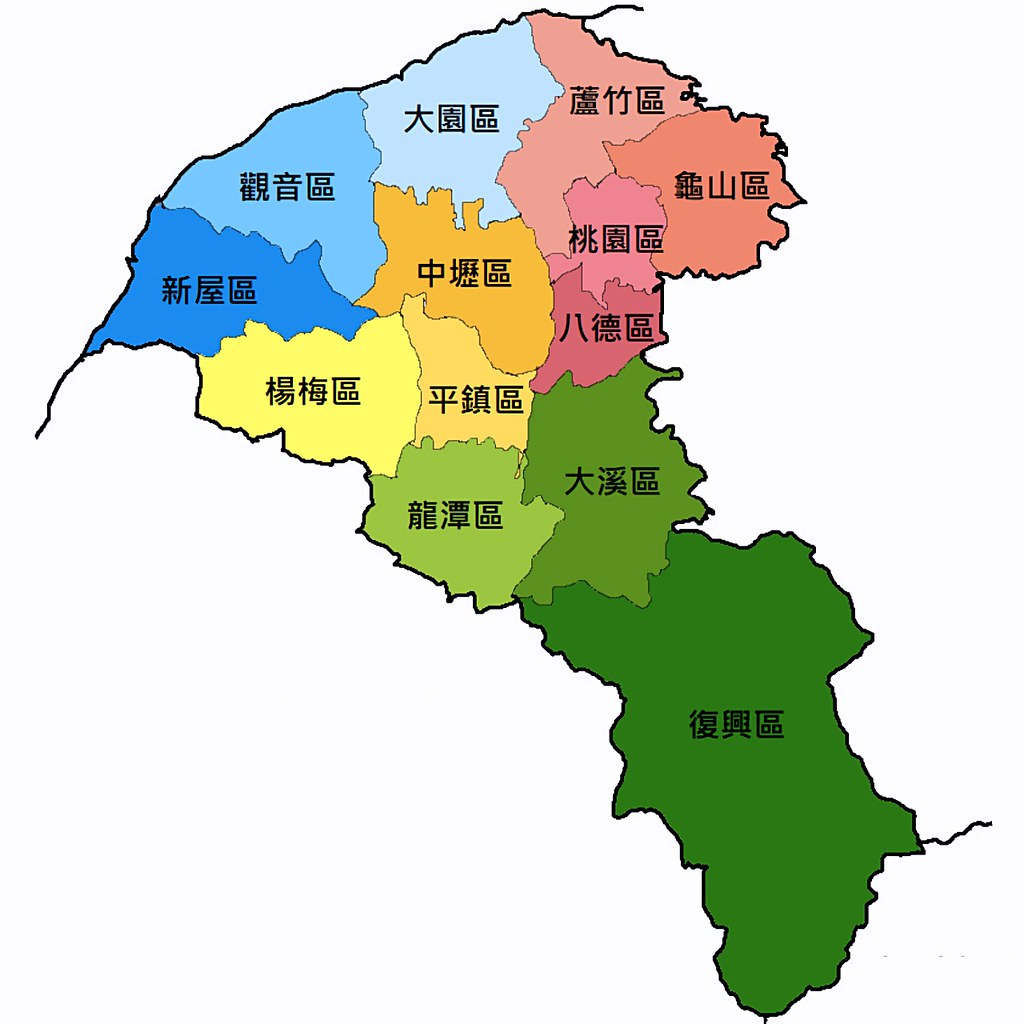 Taoyuan City Map