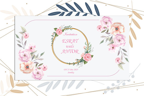 Creative and professional Invitation card design for you.