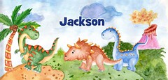 dinosaurs watercolor